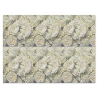 white roses tissue paper
