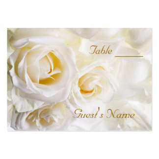 White Roses Wedding Table Numbers Business Card Template