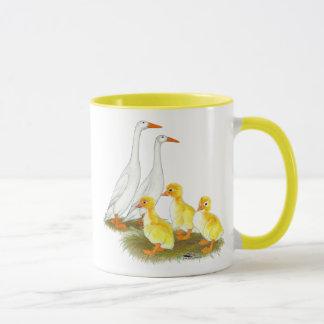 White Runner Duck Family Mug