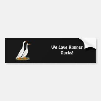 White Runner Ducks Bumper Sticker