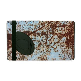White Rusted Metal Corrosion Pattern iPad Folio Case