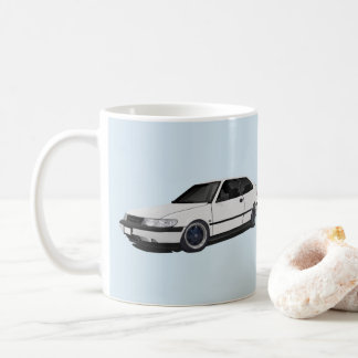 White Saab 900 NG Coffee Mug