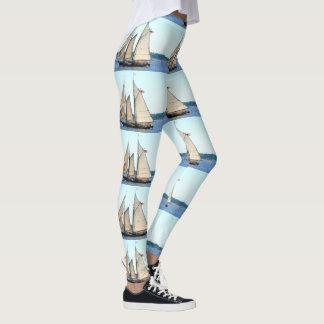 white sailing schooner leggings