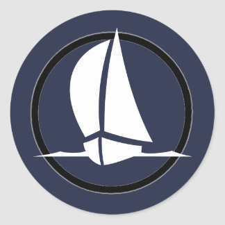 White Sails Classic Round Sticker