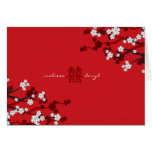 White Sakura Cherry Blossoms Chic Chinese Wedding