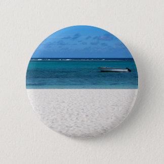 White sand beach of Flic en Flac Mauritius overloo 6 Cm Round Badge