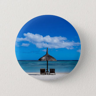 White sand beach of Flic en Flac Mauritius overloo 6 Cm Round Badge