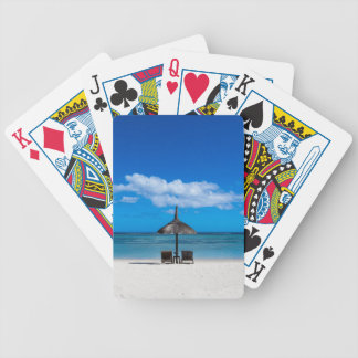 White sand beach of Flic en Flac Mauritius overloo Bicycle Playing Cards