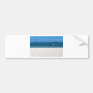 White sand beach of Flic en Flac Mauritius overloo Bumper Sticker