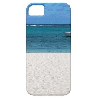 White sand beach of Flic en Flac Mauritius overloo iPhone 5 Case