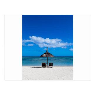 White sand beach of Flic en Flac Mauritius overloo Postcard