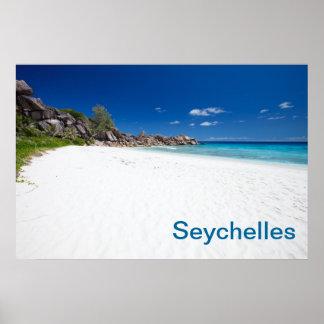 White sand beach poster