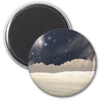White Sands New Mexico Interpretation 6 Cm Round Magnet