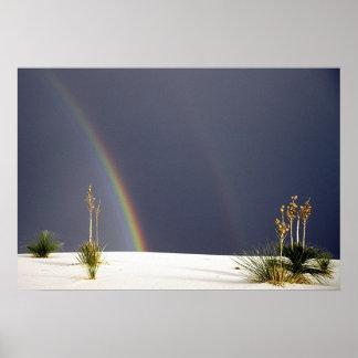 White Sands Rainbow Poster