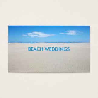 White Sandy Beach and Blue Sky Business Card