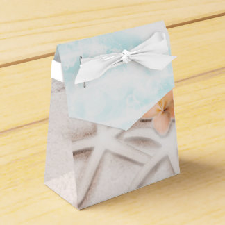 White Sandy Beach Starfish Blue Ocean Tropical Favour Box