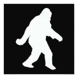 White Sasquatch Silhouette For Dark Backgrounds Personalized Invitations