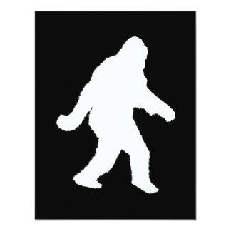 White Sasquatch Silhouette For Dark Backgrounds Personalized Announcement