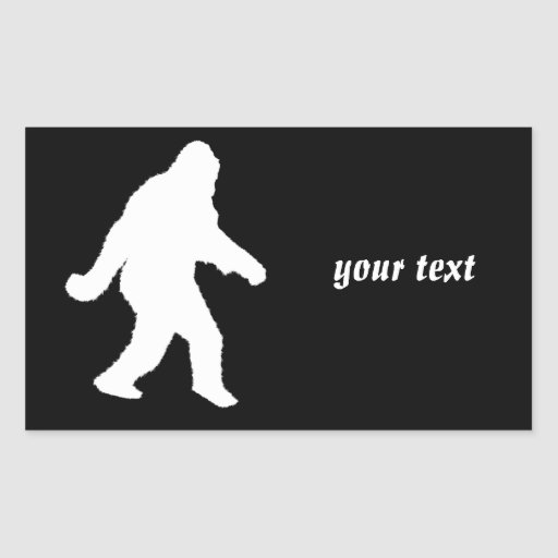 White Sasquatch Silhouette For Dark Backgrounds Rectangle Stickers