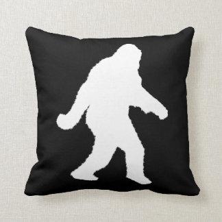 White Sasquatch Silhouette For Dark Backgrounds Throw Pillow