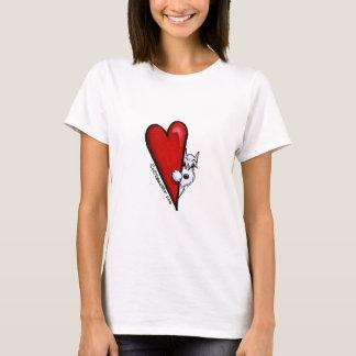White Schnauzer Love T-Shirt