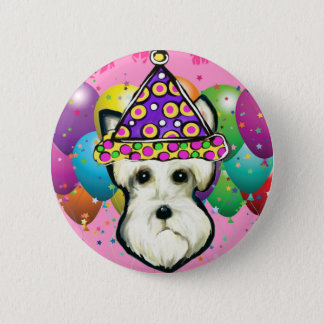 White Scottish Terrier 6 Cm Round Badge