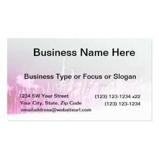 white sea oats pink yellow sky Florida beach image Business Cards