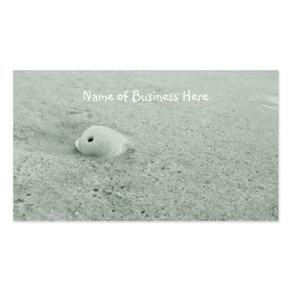 White Sea Shell On Sandy Beach Business Card