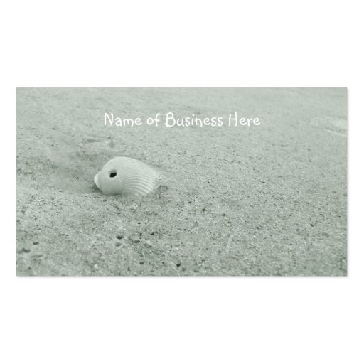 White Sea Shell On Sandy Beach Business Card