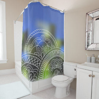white sends them on the nature background shower curtain