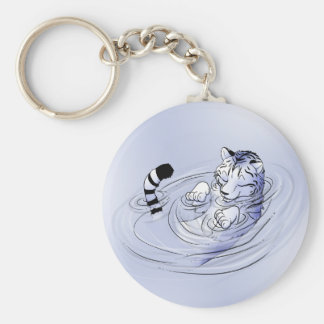 White Serenity Tiger Key Ring