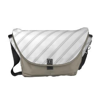 White Shaded Diagonal Stripes Rickshaw Messenge Messenger Bags