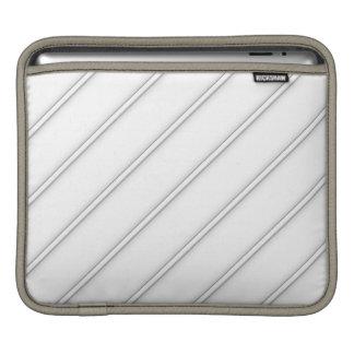 White Shaded Diagonal Stripes Rickshaw Sleeve Sleeves For iPads