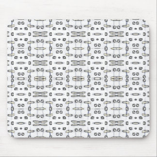 White Shadows Mouse Pad