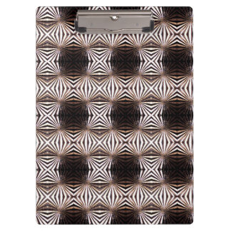 White Shapes Pattern Clipboard