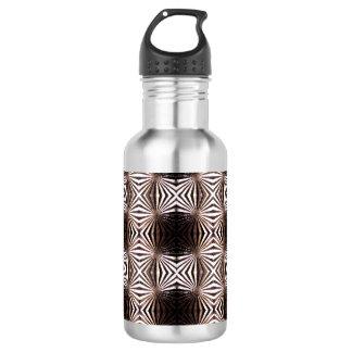 White Shapes Pattern Water Bottle 532 Ml Water Bottle