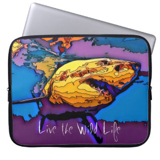 White Shark - Live the Wild Life / Laptop Sleeve