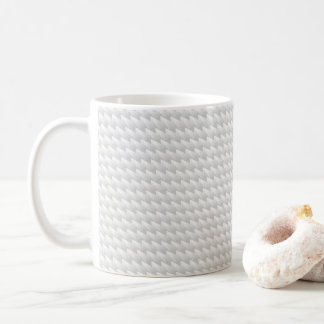 White sharp points coffee mug