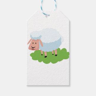 white sheep and shaun the sheep gift tags