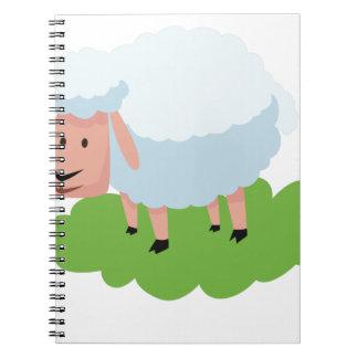 white sheep and shaun the sheep notebook