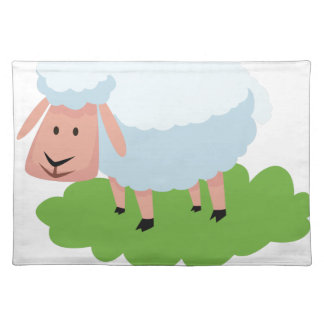 white sheep and shaun the sheep placemat