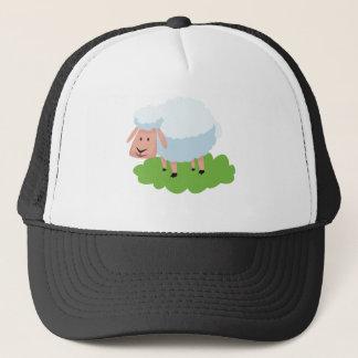 white sheep and shaun the sheep trucker hat