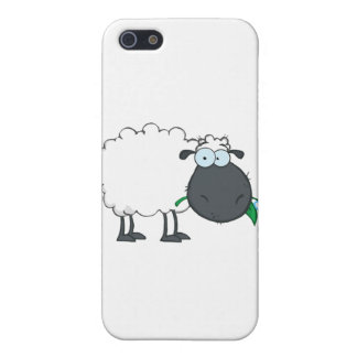 White Sheep Cartoon Character Eating A Flower Case For iPhone 5/5S