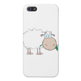 White Sheep Cartoon Character Eating A Flower Case For iPhone 5