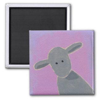 White Sheep, Grey Sheep, Black Sheep fun art Square Magnet