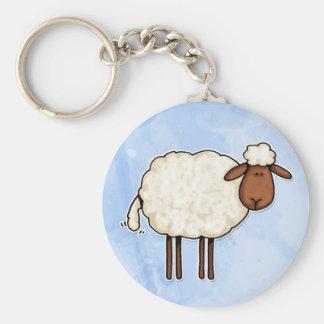 white sheep key ring