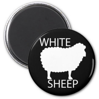 White Sheep Fridge Magnets