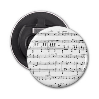 White Sheet Music Bottle Opener