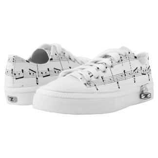 White Sheet Music Low Tops