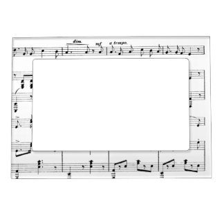 White Sheet Music Magnetic Picture Frame